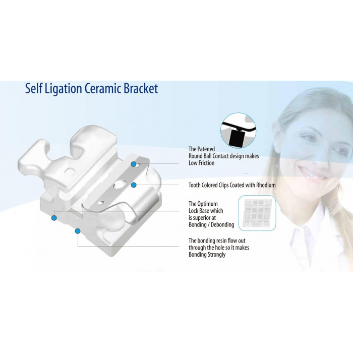 WOW Self Ligating Ceramic Brackets/set (20pcs)