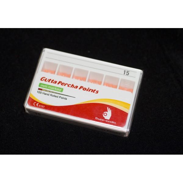 Guttapercha ISO mm jelölés 100 db  15 fehér
