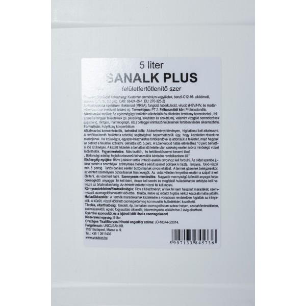 Sanalk Plus felület fertőtlenítőszer 5 L