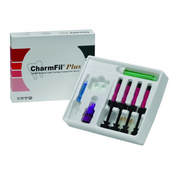 CHARMFIL® PLUS KIT [4 X 4G] Nano based Light Curing Composite Resin